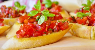 Bruschetta z pomidorami - przepis