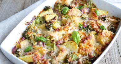 Zapiekanka z brokułów i ziemniaków