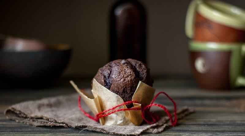 Muffiny czekoladowo-bananowe z nutą wanilii