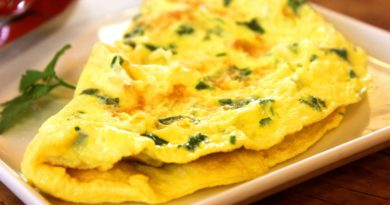 Omlet z natką pietruszki