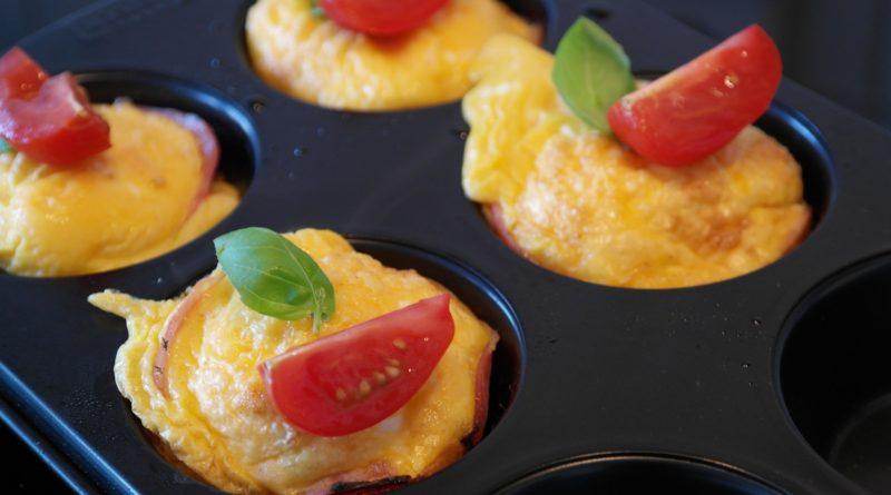 Jajeczne muffiny - przepis