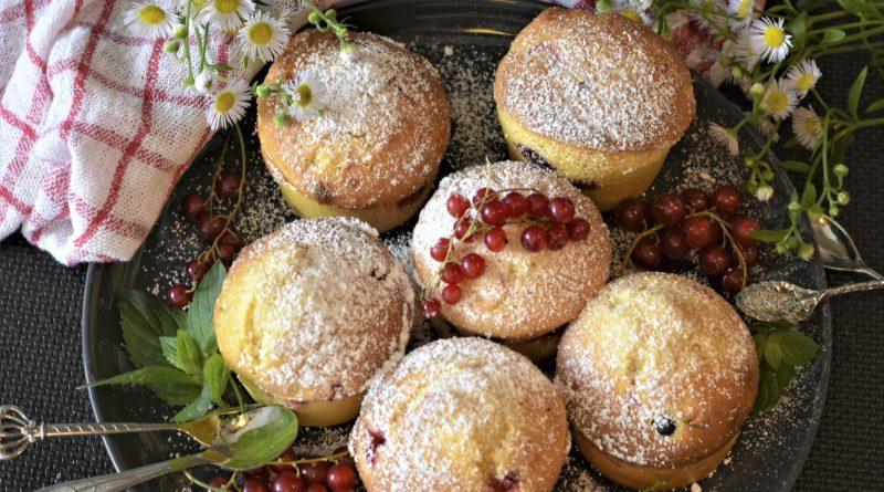 Muffiny z porzeczkami - przepis